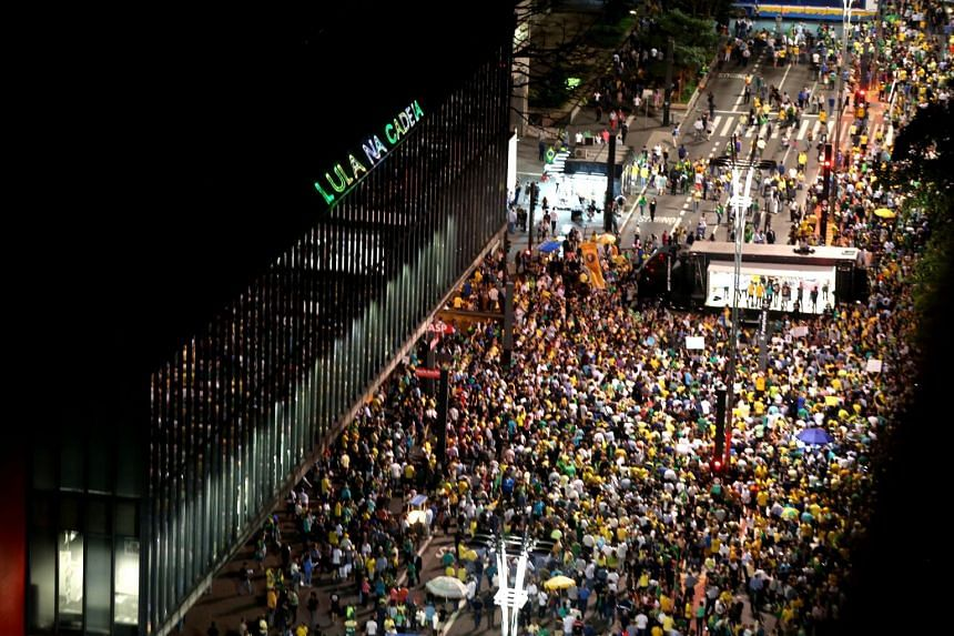 Up to 20,000 people turned out after work in the country's biggest city Sao Paulo, as well as a few thousand in Rio de Janeiro and smaller numbers in other cities.
