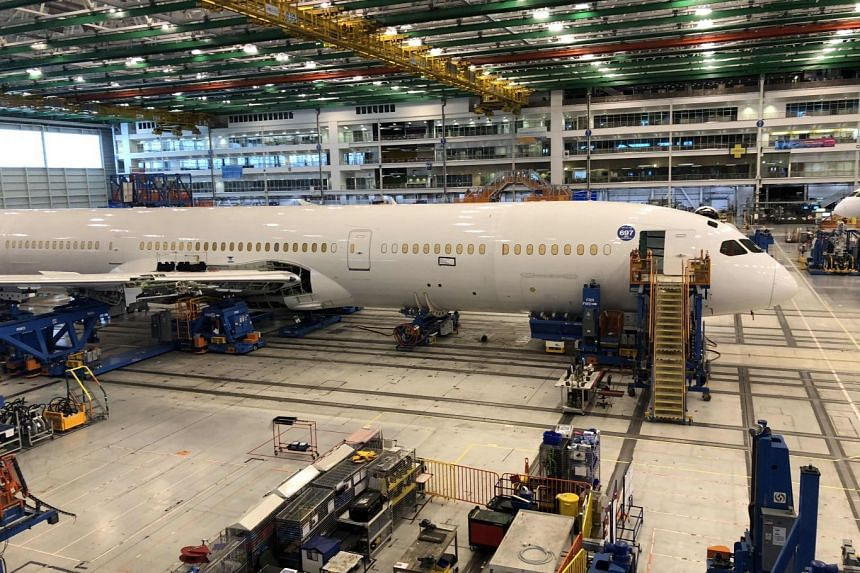 Shares in US aerospace giant Boeing Co were last down 3.3 per cent making it the biggest drag on the Dow.