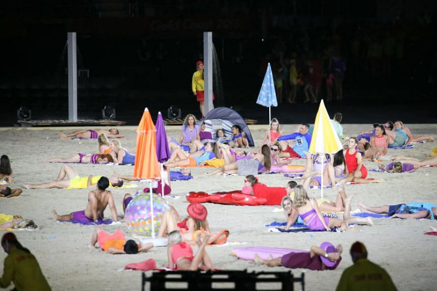 Dancing lifesavers and bikini-clad performers and a life-sized lifeguard tower and surf boats used as props were some of the highlights of the opening ceremony.