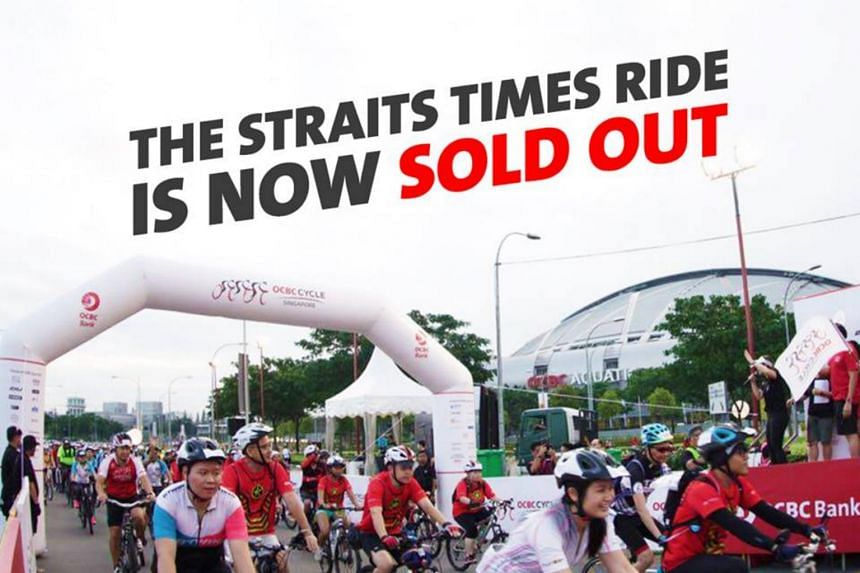 """Those who have missed out The Straits Times Ride can still join the 42km The Sportive Ride, although slots are """"also running out fast, with 80 per cent... already filled""""."""