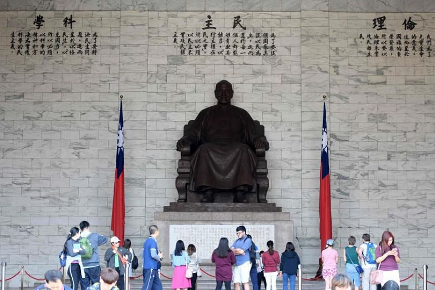 Ten people splashed red paint on Chiang Kai-shek's coffin in late February, on the 71st anniversary of a nationalist massacre estimated to have killed as many as 28,000.