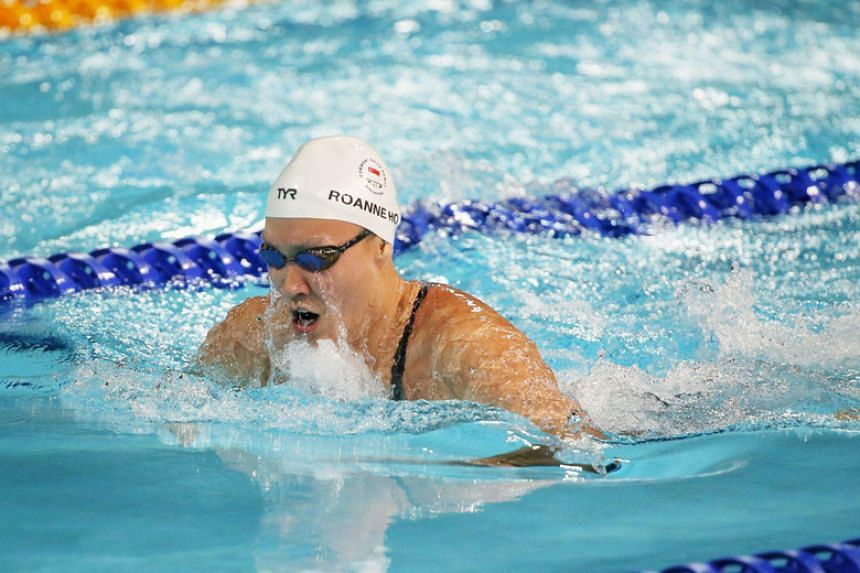 Roanne Ho came in fifth in the semi-final of the women's 50m breaststroke at the Commonwealth Games on April 5, 2018.