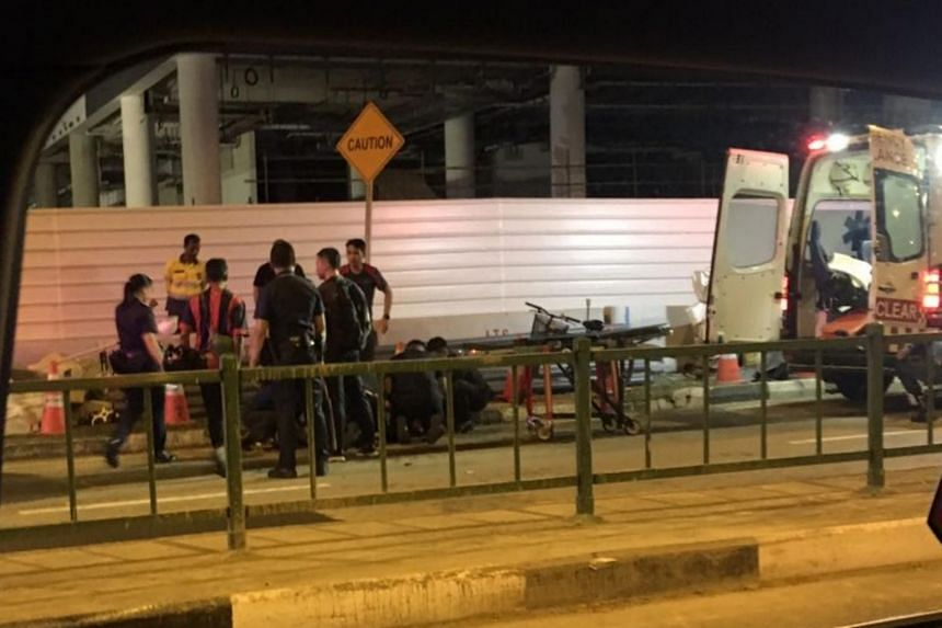 The victim collided with a van as he was trying to make a U-turn on the road, near the junction of Tanjong Katong Road and Geylang Road.