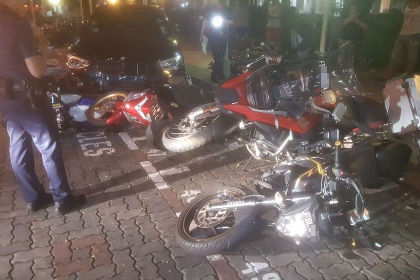 Police were alerted to the accident at the outdoor carpark between Block 100 and Block 103 Lorong 1 Toa Payoh at about 2.20am on April 5, 2018.