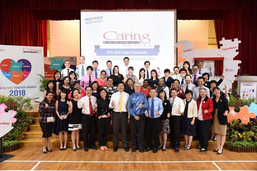 The Caring Teacher Awards ceremony at Yu Neng Primary School on April 5, 2018.