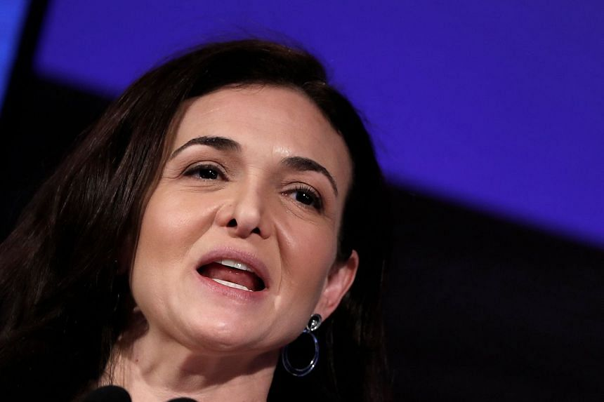 Sheryl Sandberg addressing the Facebook Gather conference in Belgium in January 2018.