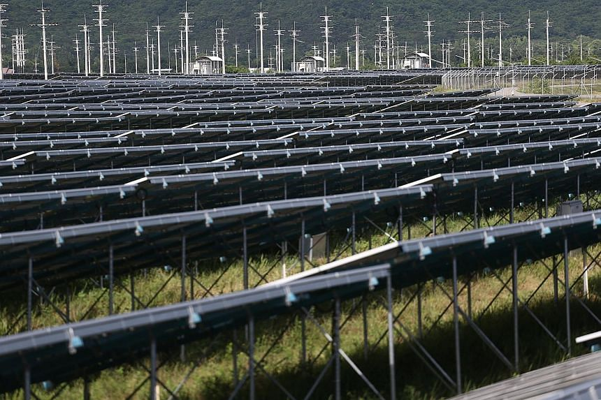 A solar power plant in Thailand's Phetchaburi province. In the energy sector, Asean has about 77 renewable energy projects in hydro, solar, wind, geothermal and biomass.