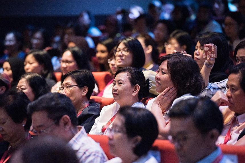 Nurses at the SingHealth Nursing Conference yesterday.
