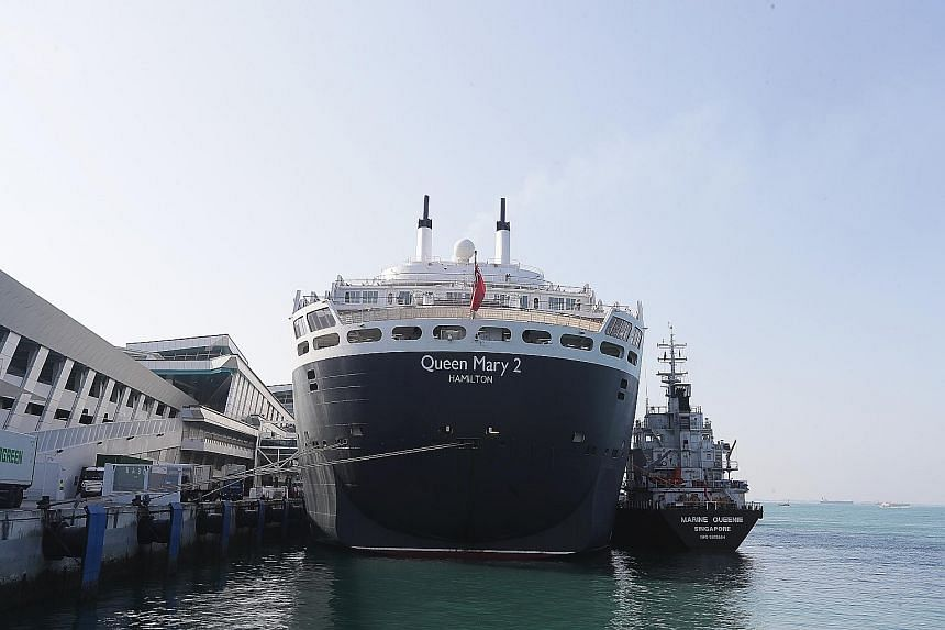 The cruise ship has the largest floating library in the world (above), stocking roughly 10,000 books, of which around 2,000 are in languages other than English. Guests can also experience the wonder of astronomy in the first planetarium at sea, as we