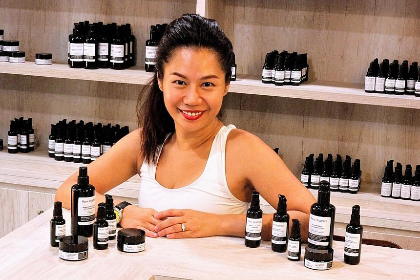 Ms Lily Kew, founder of Kew Organics wanted to make her own water-based products that are more suitable for Singapore's climate.