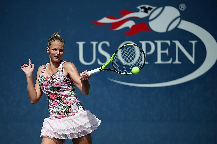 Kristyna Pliskova in action at the US Open last year. She beat her fellow Czech Petra Kvitova in three sets at the Charleston Open to seal her place in the third round of this season's first clay-court tournament.