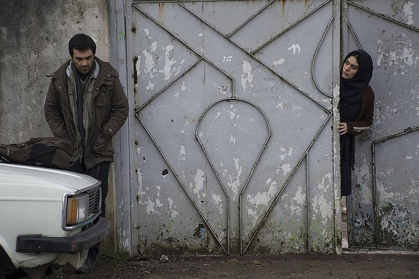 Iranian director Mohammad Rasoulof's A Man Of Integrity (above), about a man whose goldfish farm in northern Iran is threatened by a corrupt authoritarian regime. The film, starring Reza Akhlaghirad (left) and Soudabeh Beizaee, was banned in Iran, bu