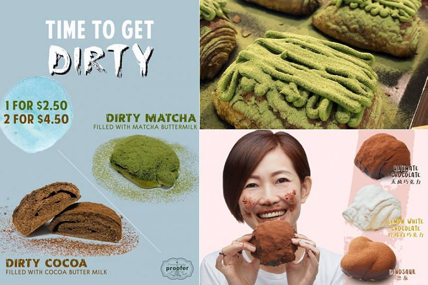 """""""Dirty"""" bread is so named for the mess that is left on the eater's face after he bites into the bun, which is dusted with toppings ranging from matcha to chocolate."""
