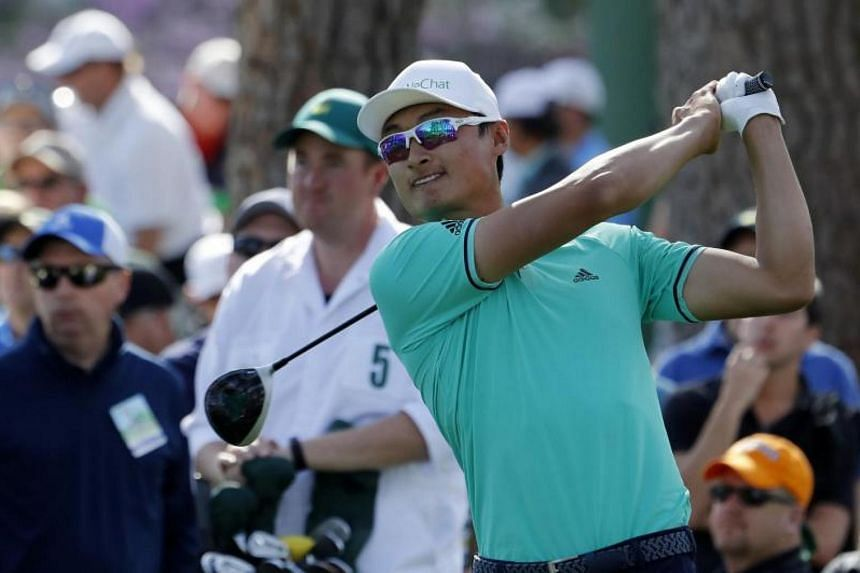 China's Li Haotong, 22, fired a three-under 69 to grab a share of fourth place after the first round of his Masters debut.