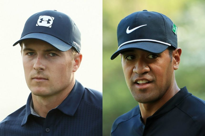 Jordan Spieth's (left) spectacular finish was overshadowed by Tony Finau, at the Masters, on April 5, 2018.