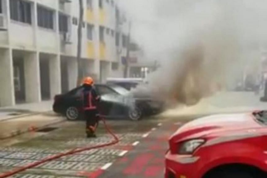 Videos shared by 21-year-old student Tan Yong An show SCDF officers battling the flames.