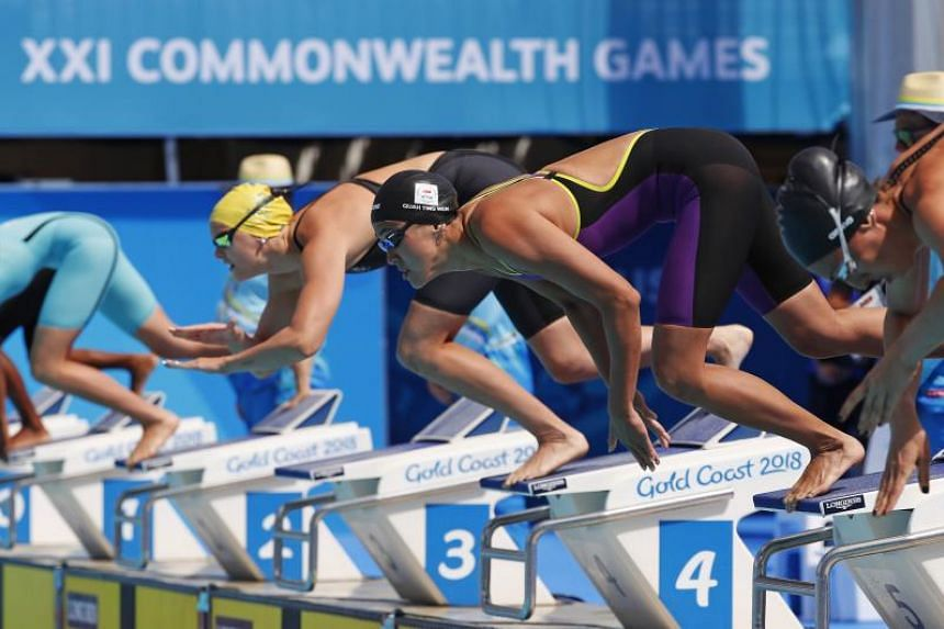 Quah Ting Wen in action during the Gold Coast 2018 Commonwealth Games women's 50m freestyle heats, on April 6, 2018.