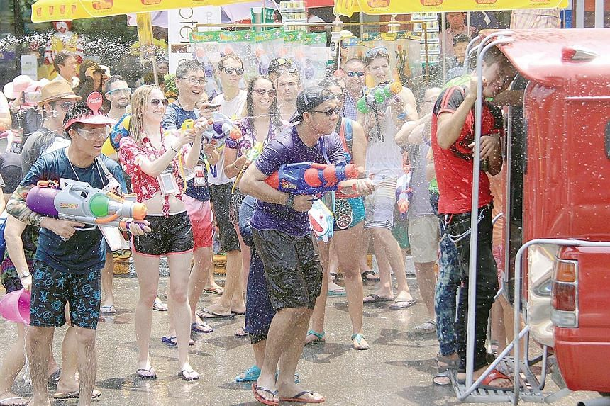 Songkran in Chiang Mai's Tha Phae Gate area. A Thai foundation has submitted a list of recommendations for this year's Songkran holiday, including increasing checkpoints where women can report incidents.