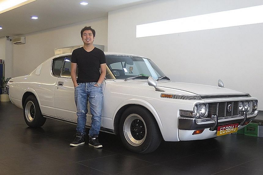 Mr Mark Poh's 1972 Toyota Crown Coupe is registered under the Classic Vehicle Scheme and can be driven only 28 days a year.