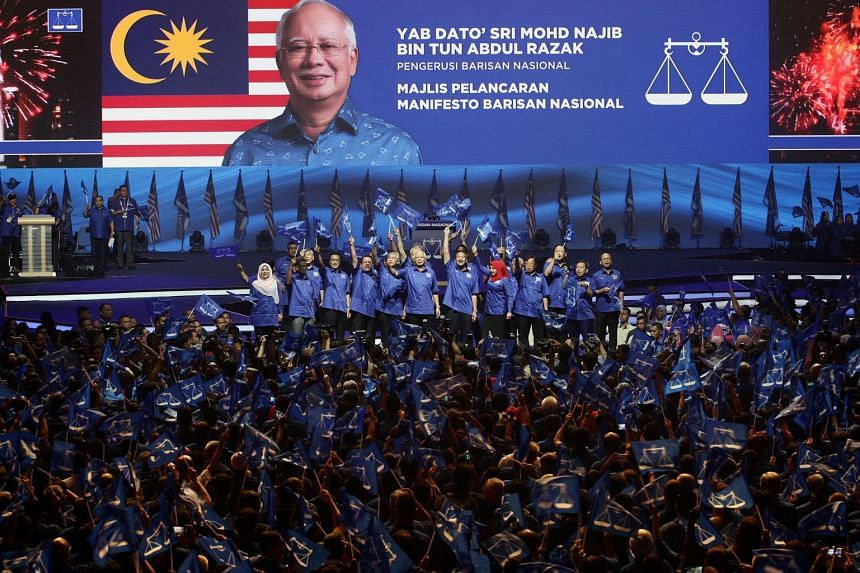 """Prime Minister Najib Razak said he and his colleagues """"vow to develop this country from Perlis to Sarawak and on to Sabah""""."""
