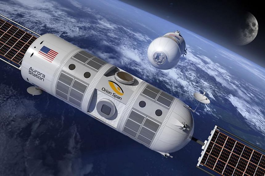 "Houston-based Orion Span hopes to launch the ""first luxury hotel in space"" - the 10.6m by 4.3m Aurora Station - by late 2021 and bring guests on board the following year."