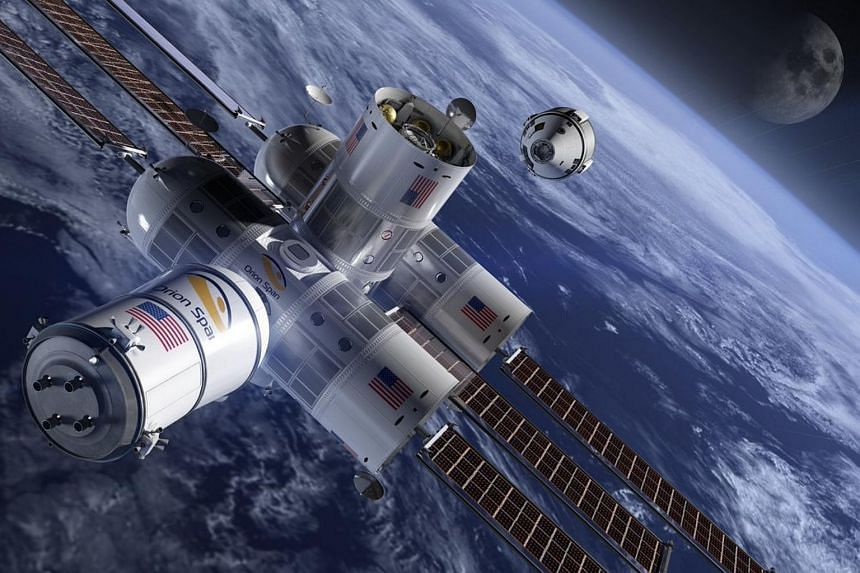 """Houston-based Orion Span hopes to launch the """"first luxury hotel in space"""" - the 10.6m by 4.3m Aurora Station - by late 2021 and bring guests on board the following year."""