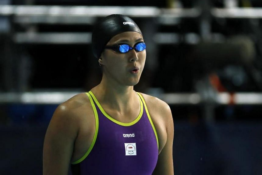Singapore swimmer Quah Ting Wen (pictured) clocked 27.44 seconds and was fourth in her heat, won by Australia's Madeline Groves (25.81sec).