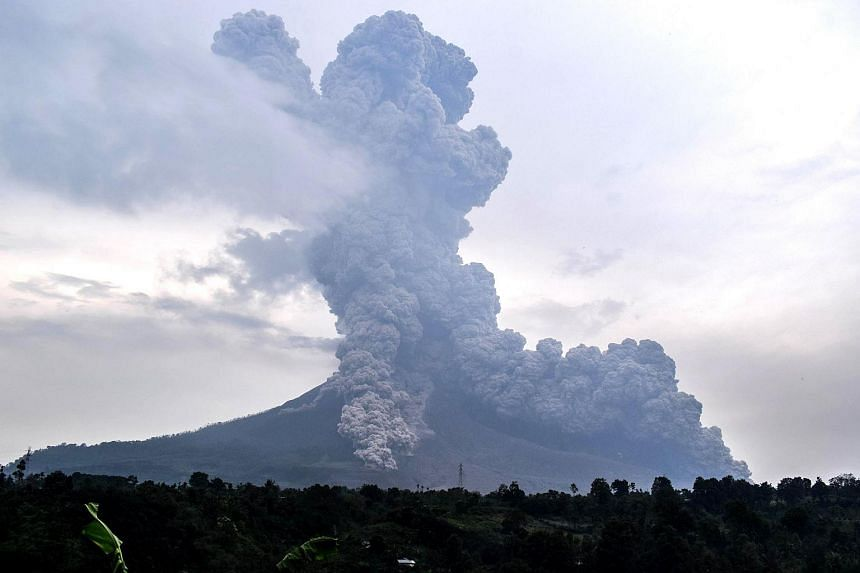 Mount Sinabung erupted on April 6, 2018, spewing a massive volcanic ash column up to 5km into the air and sending hot clouds as far as 3.5km in different directions.