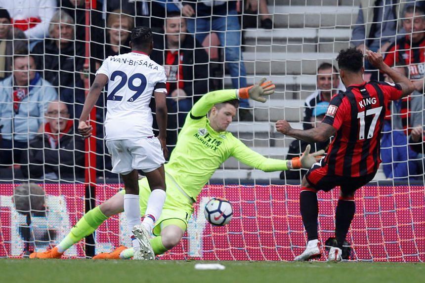Bournemouth's Joshua King scores their second goal.