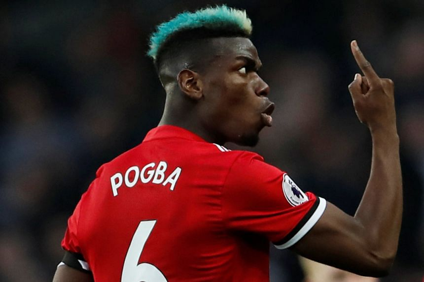 Pogba (above) was on target twice.
