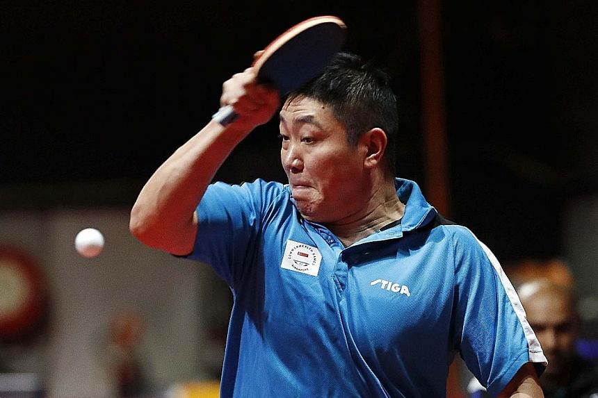Gao Ning rolled back the years yesterday when the 35-year-old paddler used his experience to beat Canada's Antoine Bernadet 3-0 to secure the winning point which sent the Singapore men's table tennis team into the semi-finals tomorrow.