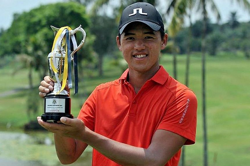 Singapore's Johnson Poh won the PGM Johor Championship, his first ADT title, with a superb seven-under 65 in his final round yesterday.