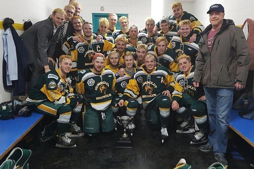 The Humboldt Broncos in a photo on the team's Twitter handle. The bus carrying the Canadian junior ice hockey team to a game was involved in a crash with a semi-trailer truck on Friday.