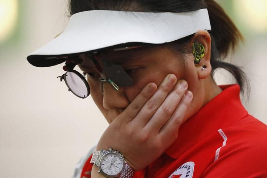 Singapore shooter Teo Shun Xie had qualified in fourth place for the eight-woman final at the Belmont Shooting Centre but struggled for consistency throughout the elimination shoot-off.