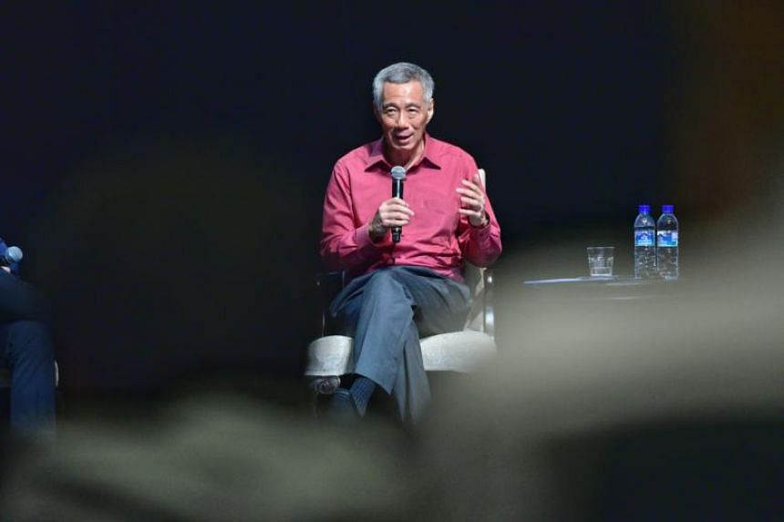 Prime Minister Lee Hsien Loong speaking at the Singapore University of Technology and Design on April 5, 2018. PM Lee will arrive in Beijing on April 8 for a five-day working visit, where he will meet top Chinese leaders.