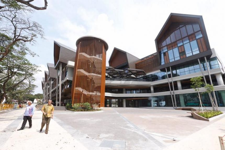 The new Wisma Geylang Serai which sits on the site of the former Malay Village, incorporates design and architectural features from its predecessor.