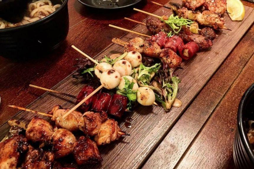 Skewers from halal-certified Japanese eatery Hararu Izakaya.