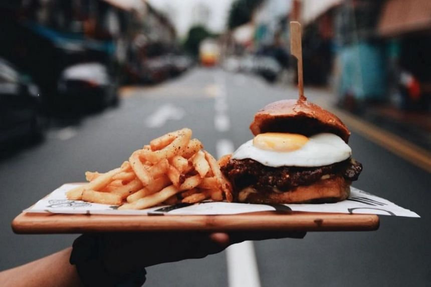 Burger and fries from halal burger joint Working Title, which is run by The Black Hole Group.