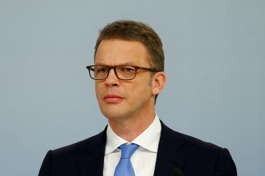 Christian Sewing (above) will replace John Cryan as CEO of Deutsche Bank.
