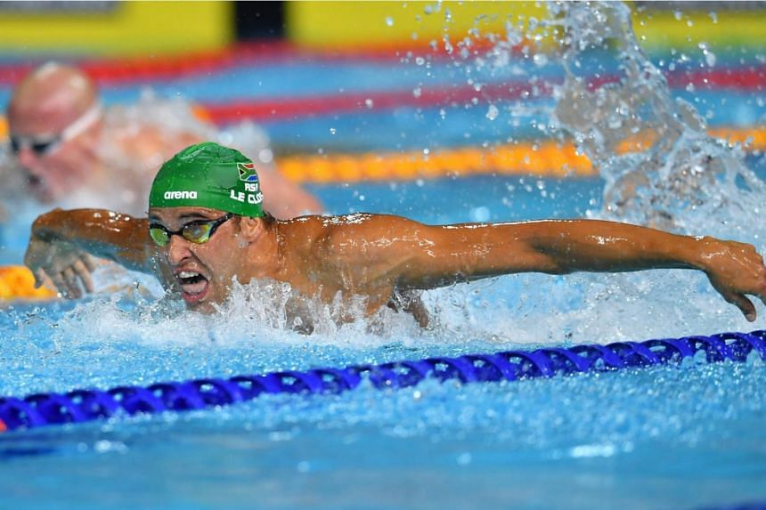 South Africa's Chad le Clos proved that he was the king of the 200m butterfly at the Commonwealth Games he won his pet event for the third consecutive time last night in a Games record of 1 min 54sec.
