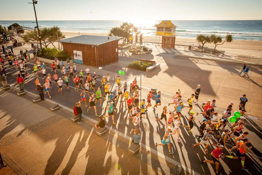 Runners in the 2017 Gold Coast Marathon. Three ST Run participants will earn a 5D/4N all-expenses paid trip to run in the Gold Coast Marathon (GCM), one this year and two for next year.