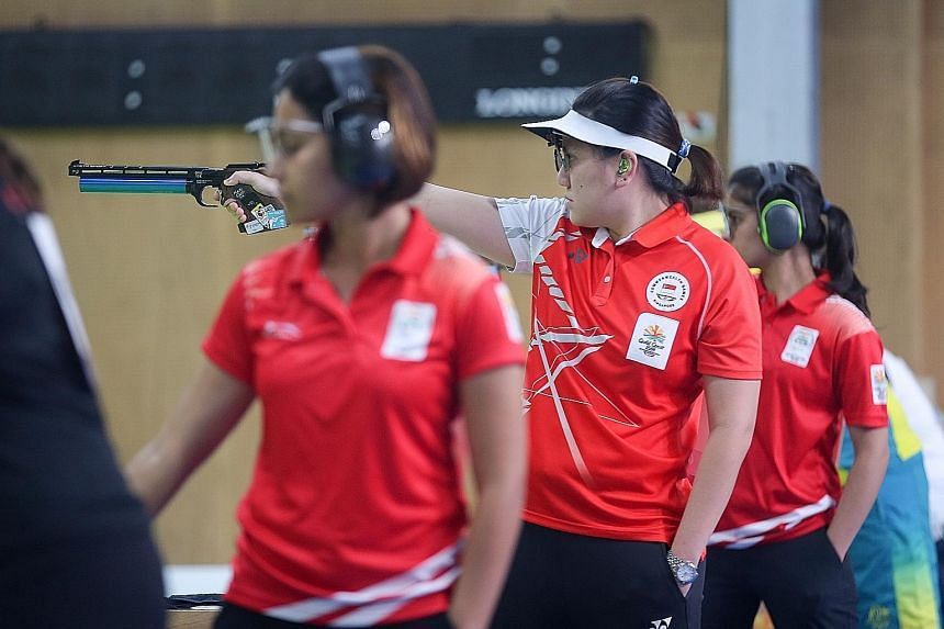Teo Shun Xie did not factor in the extra sunlight as organisers opened the shutters behind the shooters to allow more seating for spectators. The defending 10m air pistol champion finished seventh.