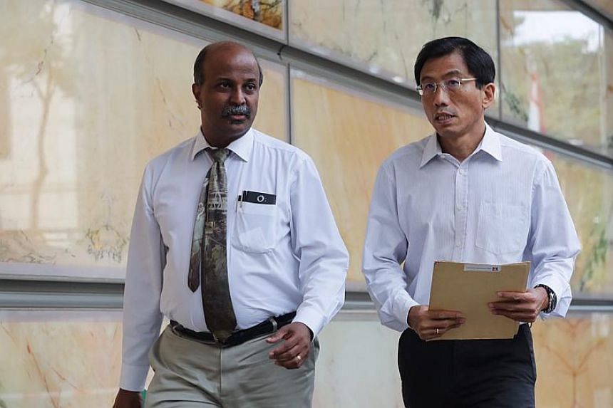 Singapore Democratic Party's secretary-general Chee Soon Juan (right) and its chairman Paul Tambyah on April 9, 2018.