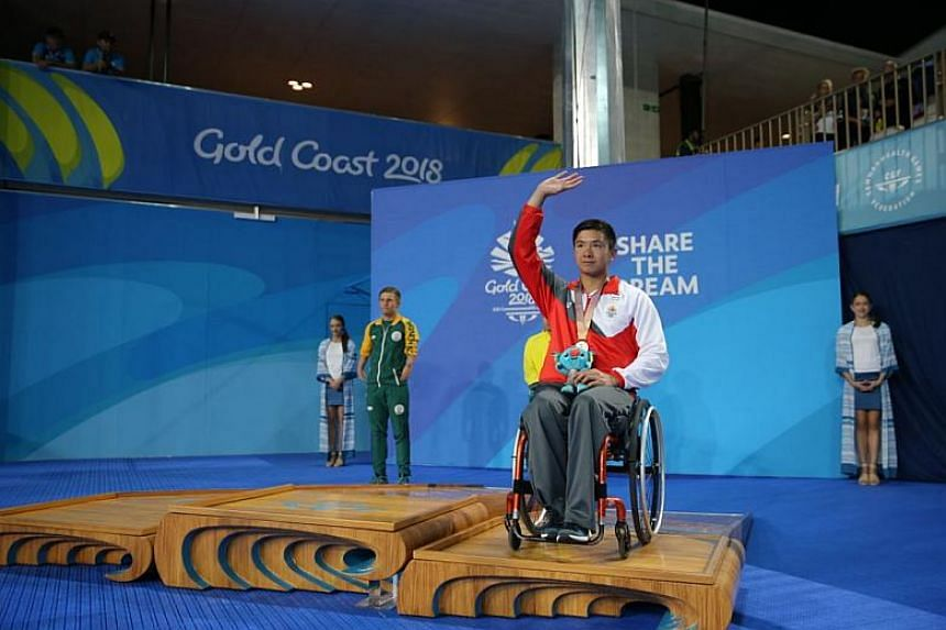 Singapore para swimmer Toh Wei Soong capped a memorable debut at the Commonwealth Games by winning his first medal on April 9, 2018. He clocked 29.83sec in the men's S7 50m freestyle to finish third.