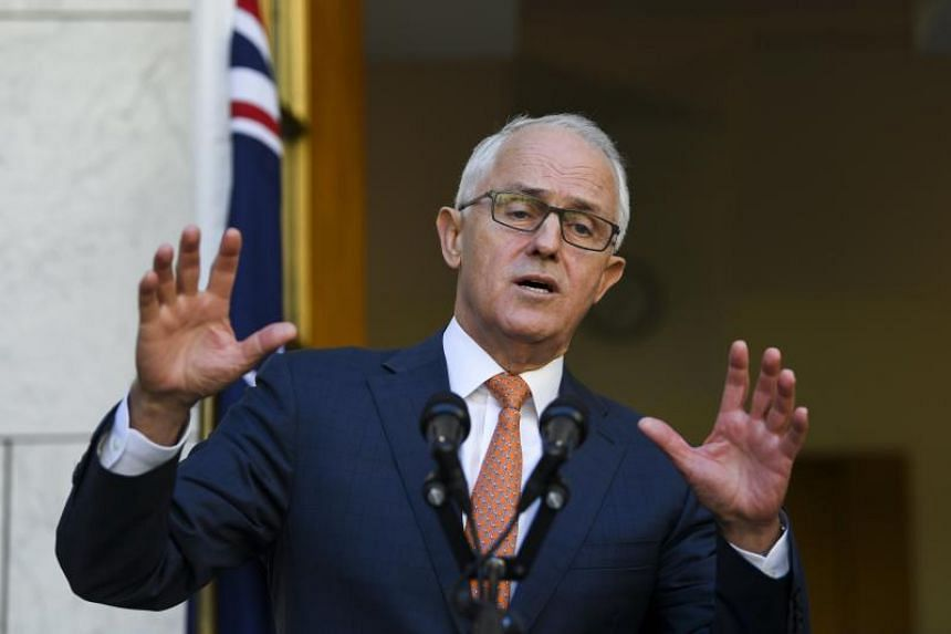 Australian Prime Minister Malcolm Turnbull speaks to the media during a press conference at Parliament House in Canberra, Australia, on March 27, 2018.