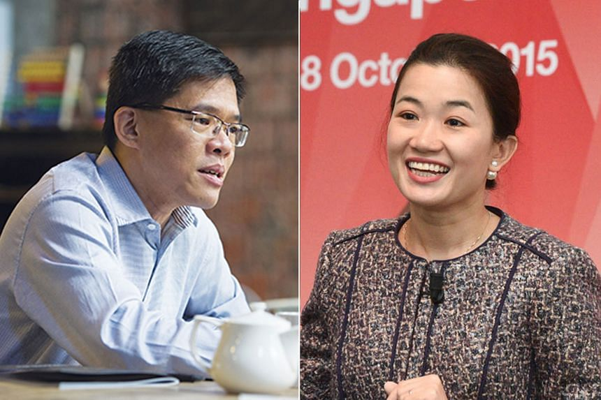 Mr Kok Ping Soon (left), Deputy Secretary (Development) in the Ministry of Manpower, will succeed Ms Jacqueline Poh as chief executive of the Government Technology Agency with effect from May 1, 2018.