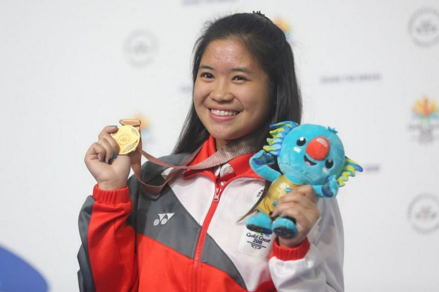 Shooter Martina Veloso (pictured) beat India's Mehuli Ghosh via a dramatic shoot-off in the final after both competitors finished tied with a score of 247.2 points.