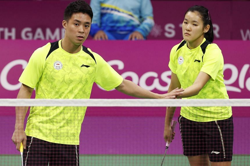 Republic's mixed doubles pair Terry Hee and Crystal Wong (above) won the first game 21-16, but lost the next two to Marcus Ellis and Lauren Smith 19-21, 18-21 to give England the lead.