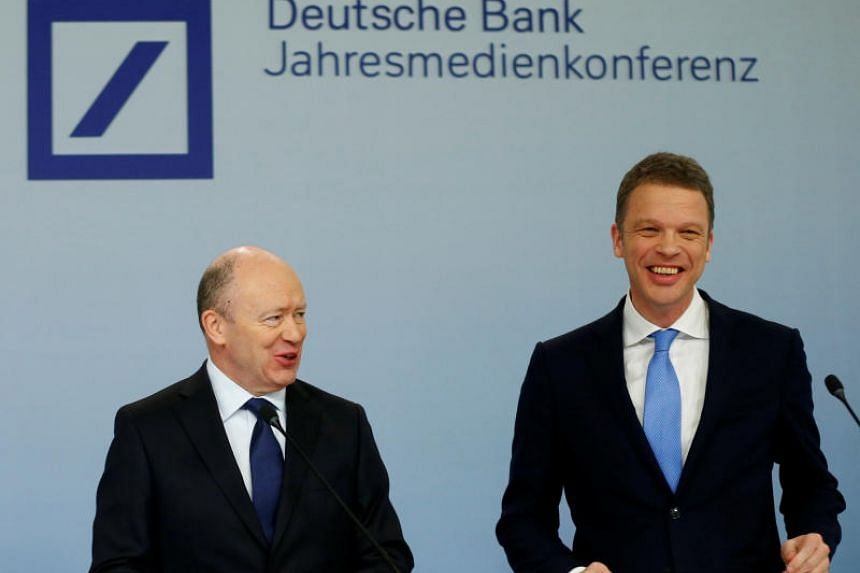 Germany's Deutsche Bank is replacing CEO John Cryan (left) with Mr Christian Sewing.