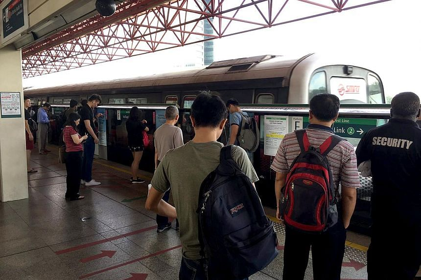 Delays were caused along a westbound stretch of the East-West Line yesterday morning, due to a track fault.